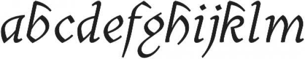 Cursive otf (400) Font LOWERCASE