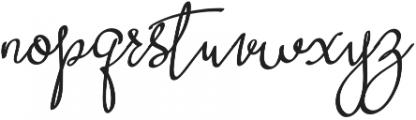 Curvalight Alt1 otf (300) Font LOWERCASE