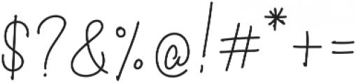 Curvalight Monoline Alt1 otf (300) Font OTHER CHARS