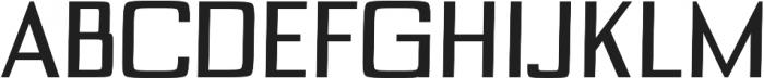 Custom regular otf (400) Font UPPERCASE