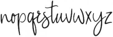 CustomCraft otf (400) Font LOWERCASE