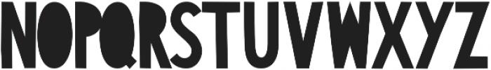 CutAndRun Regular otf (400) Font UPPERCASE