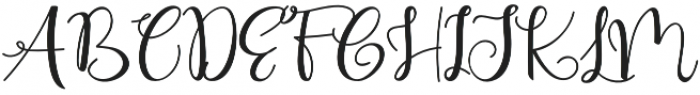 Cute Thing Script otf (100) Font UPPERCASE