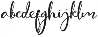 Cute Thing Script otf (100) Font LOWERCASE