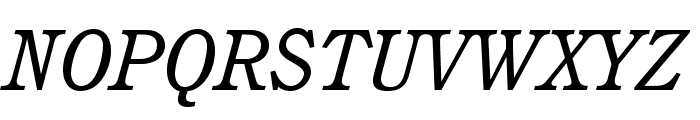 CushingStd-BookItalic Font UPPERCASE