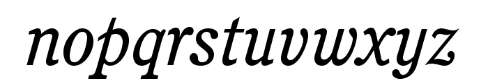 CushingStd-BookItalic Font LOWERCASE