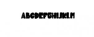 Cubby Brush Font UPPERCASE