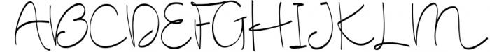 Cute Baby Script Font UPPERCASE