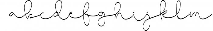 Cute Baby Script Font LOWERCASE