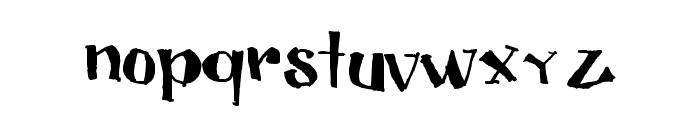 CUBICULOGALLERY SERIF Font LOWERCASE