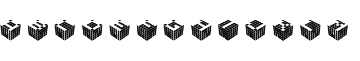 CUBICdot standard Font LOWERCASE