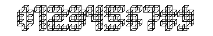 Cube Toss Font OTHER CHARS