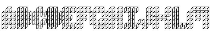 Cube Toss Font UPPERCASE