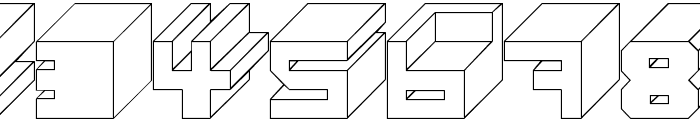Cube Font OTHER CHARS