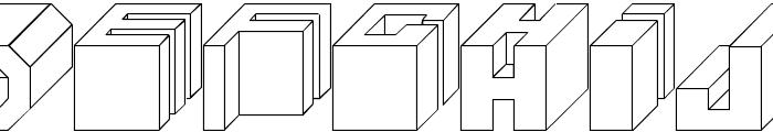 Cube Font UPPERCASE