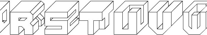 Cube Font LOWERCASE