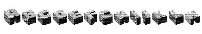 Cubefont Font UPPERCASE
