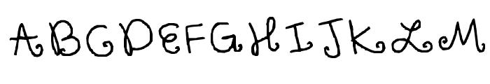 Cupcake Font UPPERCASE