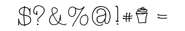 CupcakeFont Font OTHER CHARS