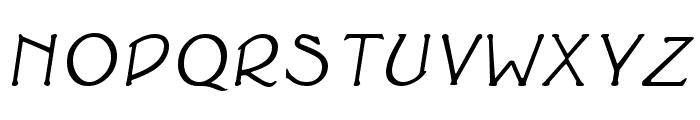Cupola BoldItalic Font UPPERCASE