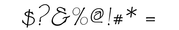Cupola Italic Font OTHER CHARS