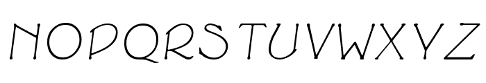 Cupola Italic Font UPPERCASE