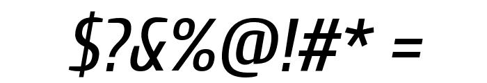 Cuprum Italic Font OTHER CHARS