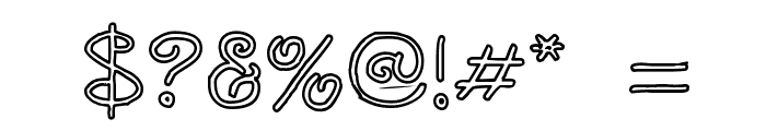 Curlmudgeon Hollow Font OTHER CHARS