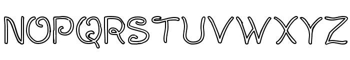 Curlmudgeon Hollow Font UPPERCASE