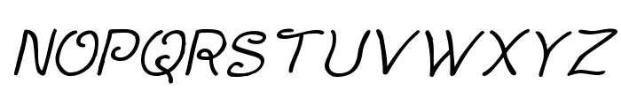 Curlmudgeon Italic Font UPPERCASE