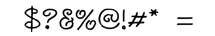 Curlmudgeon Font OTHER CHARS