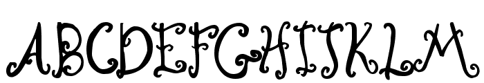 Curly Coryphaeus Font UPPERCASE