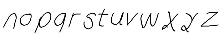 Curly Kue Italic Font LOWERCASE