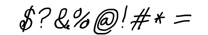 Curly Kue Semi Bold Italic Font OTHER CHARS