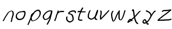 Curly Kue Semi Bold Italic Font LOWERCASE
