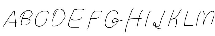 Curly Kue Thin Italic Font UPPERCASE