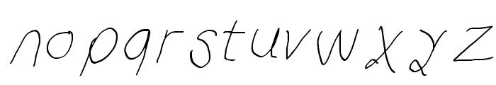 Curly Kue Thin Italic Font LOWERCASE