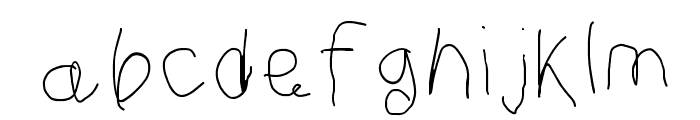 Curly Kue Thin Font LOWERCASE