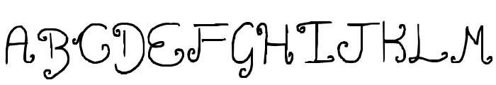 Curly twirly Font UPPERCASE