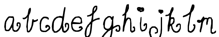 Curly twirly Font LOWERCASE