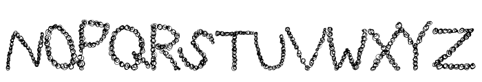 CurlyQue Font UPPERCASE