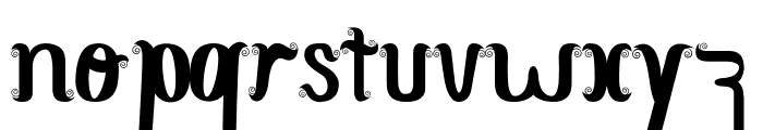 CurlySimplePerfect Font LOWERCASE