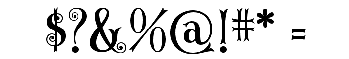 CurlyStars Font OTHER CHARS