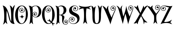 CurlyStars Font UPPERCASE