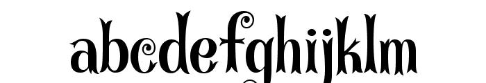 CurlyStars Font LOWERCASE