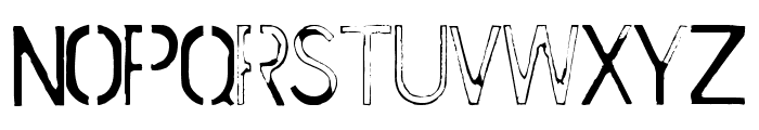 Cursed Mustache Font LOWERCASE