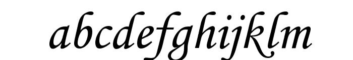 Cursiv Font LOWERCASE