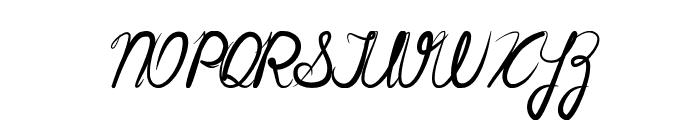 Cursiva Font UPPERCASE