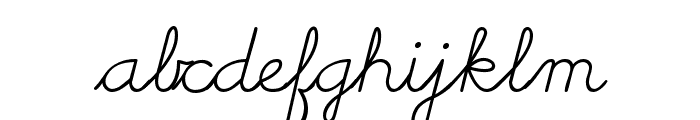 Cursive Handwriting Tryout Font LOWERCASE