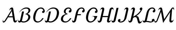 Cursive Serif Font UPPERCASE